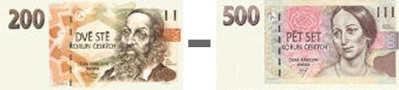 200,- až 500,-