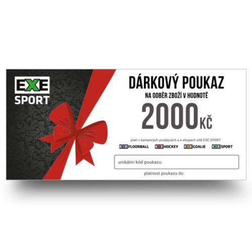 Dárkový poukaz 2000kč - poštou, na dobírku - Dárkové poukazy