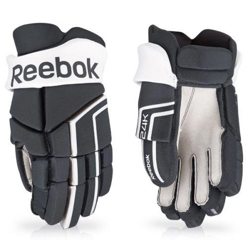 Hokejové rukavice REEBOK 24K black/white - 13
