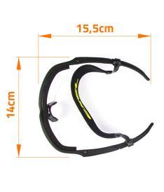 EXEL X80 EYE GUARD junior black - Ochranné brýle