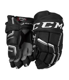 Hokejové rukavice CCM QUICKLITE 270 black/white senior