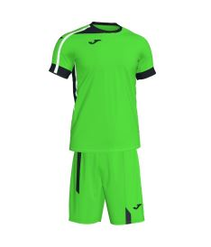 JOMA ROMA II SET FLUOR GREEN-BLACK S/S