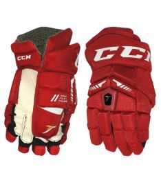 Hokejové rukavice CCM ULTRA TACKS red/white junior - 11""