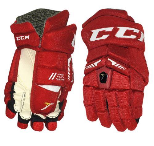Hokejové rukavice CCM ULTRA TACKS red/white junior - 11