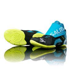 Florbalová golmanská obuv SALMING Slide 5 Goalie Shoe Cyan/Black