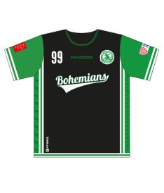 FREEZ JERSEY SUBLI KID - FBŠ BOHEMIANS 19 - black/green