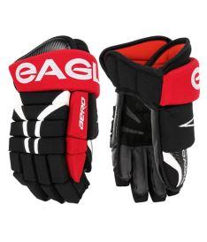 """Hokejové rukavice EAGLE AERO black/red/white senior - 14"""""""