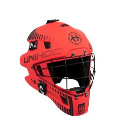 UNIHOC GOALIE MASK INFERNO 44 neon red/black