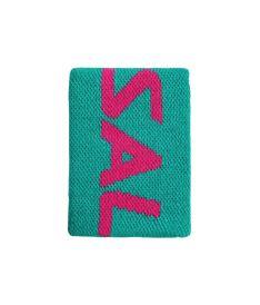 SALMING Wristband Mid Ceramic Green/Azalea Pink