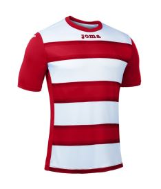 JOMA T-SHIRT EUROPA III RED-WHITE S/S