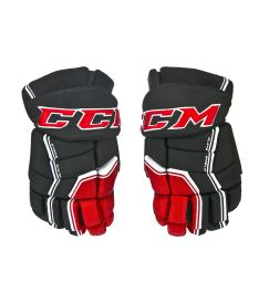 "Hokejové rukavice CCM QUICKLITE black/red/white senior - 14"""