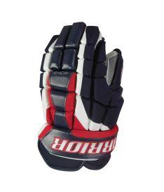 "Hokejové rukavice WARRIOR LUXE navy/red/white senior - 13"""