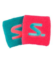 SALMING Wristband 2-Pack diva pink/turquoise