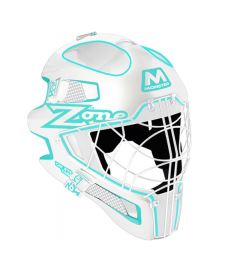 ZONE GOALIE MASK MONSTER CAT EYE CAGE white/light turq