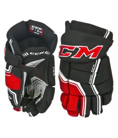 Hokejové rukavice CCM QUICKLITE black/red/white senior - 14""