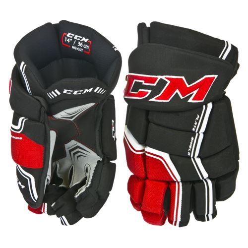Hokejové rukavice CCM QUICKLITE black/red/white senior - 14