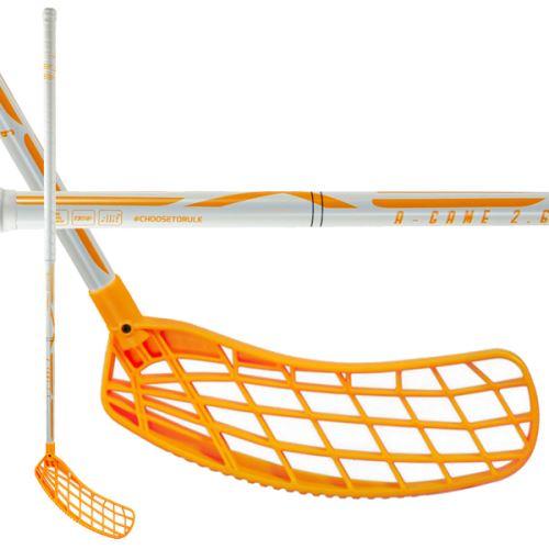 EXEL A-GAME WHITE-ORANGE 2.6 103 ROUND SB - florbalová hůl