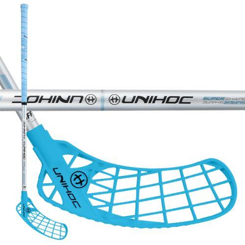 UNIHOC STICK ICONIC Curve 1.5° 35 blue/silver 83cm R - florbalová hůl