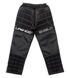 UNIHOC GOALIE PANTS SHIELD black/white