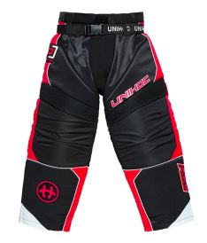 UNIHOC GOALIE PANTS OPTIMA black/neon red