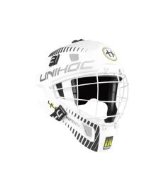 UNIHOC GOALIE HELMET Inferno 44 white Senior
