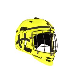 UNIHOC GOALIE HELMET Shield yellow JR