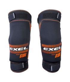 EXEL S100 KNEE GUARD senior black/orange XXL - Chrániče a vesty
