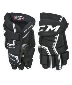 Hokejové rukavice CCM QUICKLITE black/white senior - 14