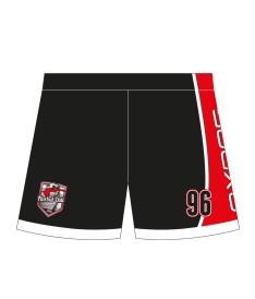 FREEZ SHORTS SUBLI KID - FLORBAL ÚSTÍ - black/red