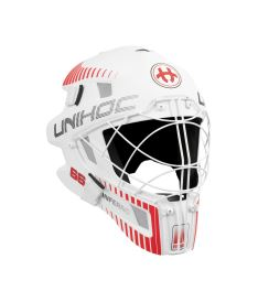 UNIHOC GOALIE MASK INFERNO 66 white/neon red