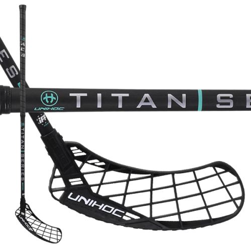 UNIHOC STICK EPIC TITAN Miracle Light 26 black 104cm R - florbalová hůl