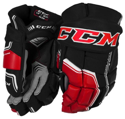 Hokejové rukavice CCM QUICKLITE 290 black/red/white senior - 14