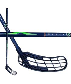 SALMING Q1 X-shaft KZ TC 3° Navy/Fluo Green 100 (111cm)