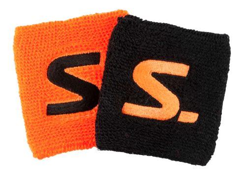 SALMING Wristband 2-Pack black/magma red