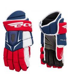 """Hokejové rukavice EAGLE TALON 200 PRO blue/red/white senior - 14"""""""