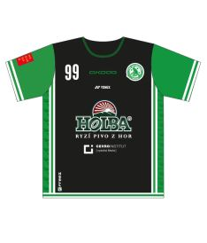 FREEZ JERSEY SUBLI MEN - FBŠ BOHEMIANS 19 - A - black/green