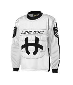 UNIHOC GOALIE SWEATER SHIELD white/black