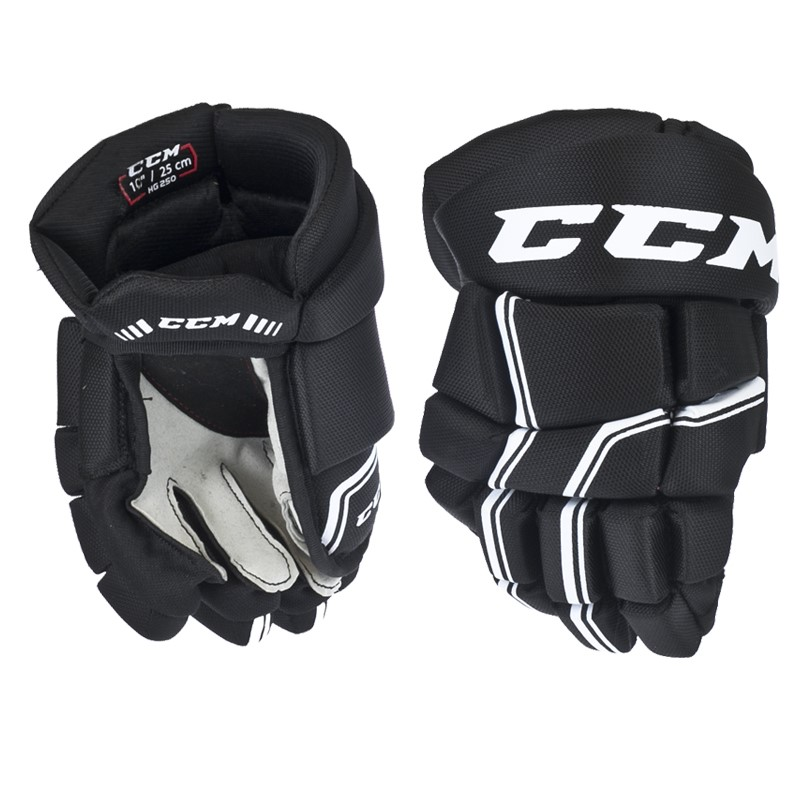 Hokejové rukavice CCM QUICKLITE 250 black white junior f702572f03