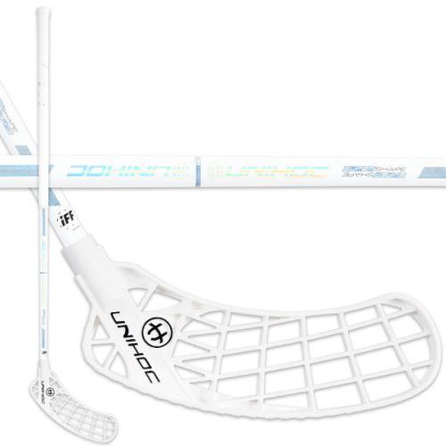 UNIHOC STICK ICONIC Curve 3.0° PRO 26 white/blue 96cm L - florbalová hůl