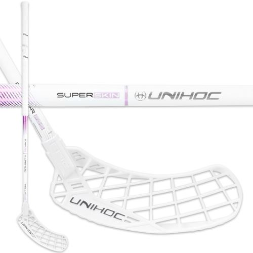 UNIHOC STICK EPIC SUPERSKIN REG 29 white/purple 92cm L - florbalová hůl