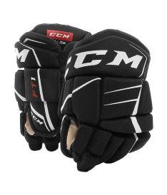 "Hokejové rukavice CCM JETSPEED FT1 black/white youth - 9"""