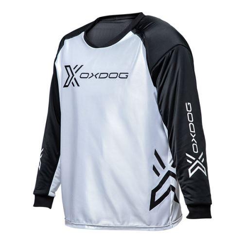 OXDOG XGUARD GOALIE SHIRT white/black, padding - Brankářský dres