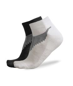 FREEZ ANCLE SOCKS 2-pack black+white