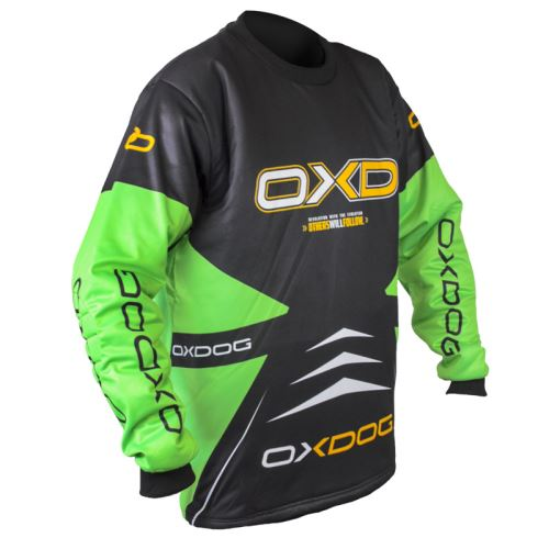 OXDOG VAPOR GOALIE SHIRT black/green 130/140 - Brankářský dres