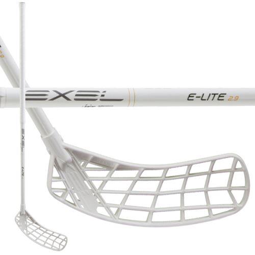 EXEL E-LITE WHITE 2.9 101 OVAL MB R - florbalová hůl
