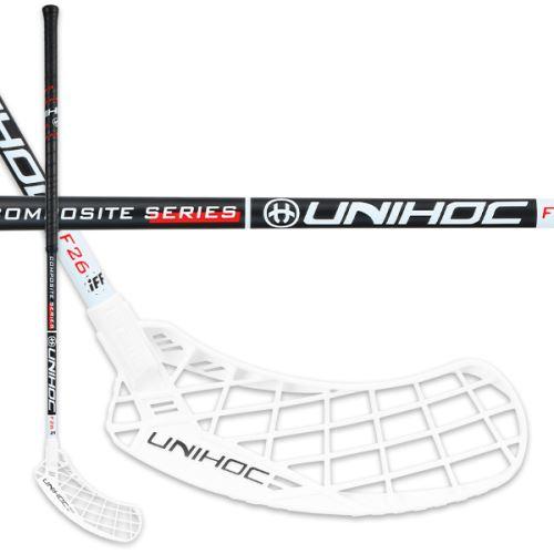 UNIHOC STICK EPIC Composite 26 black/white 96cm R - florbalová hůl