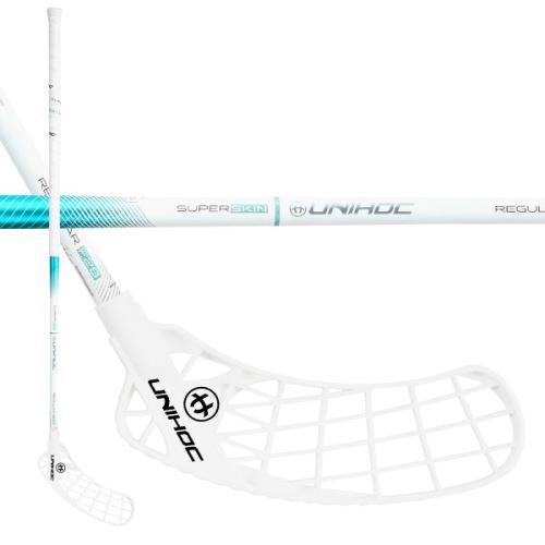 UNIHOC STICK ICONIC SUPERSKIN REGULAR 28 white 92cm R - florbalová hůl