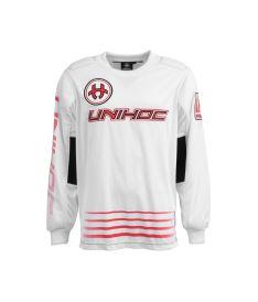 UNIHOC GOALIE SWEATER INFERNO white/neon red